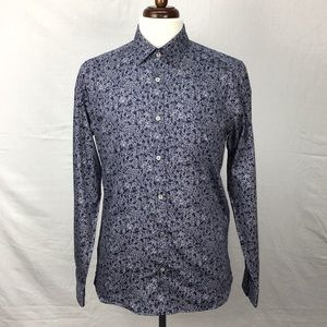 Ted Baker Woody Floral Print Cotton Blend Shirt